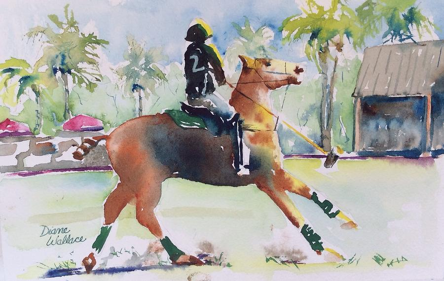 Polo Painting - Change Of Direction by Diane Wallace