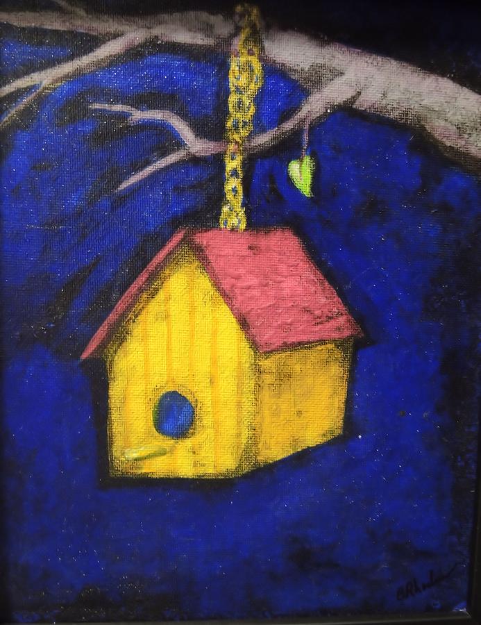Birdhouse Painting - Change Of Season by Barbara  Rhodes