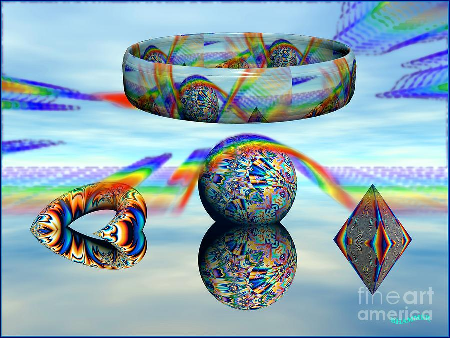 Colorful Digital Art - Changing Altitudes by Bobby Hammerstone