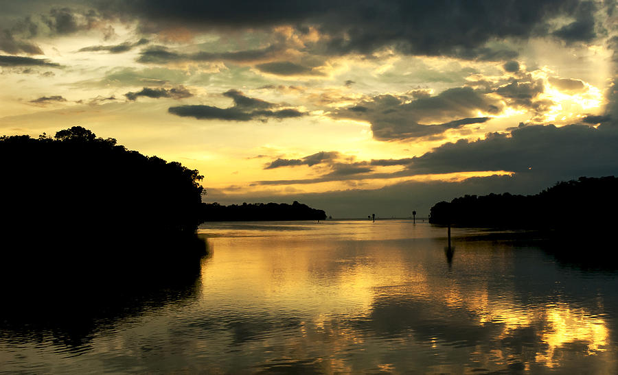 Sunset Photograph - Channel To The Sunset by Norman Johnson