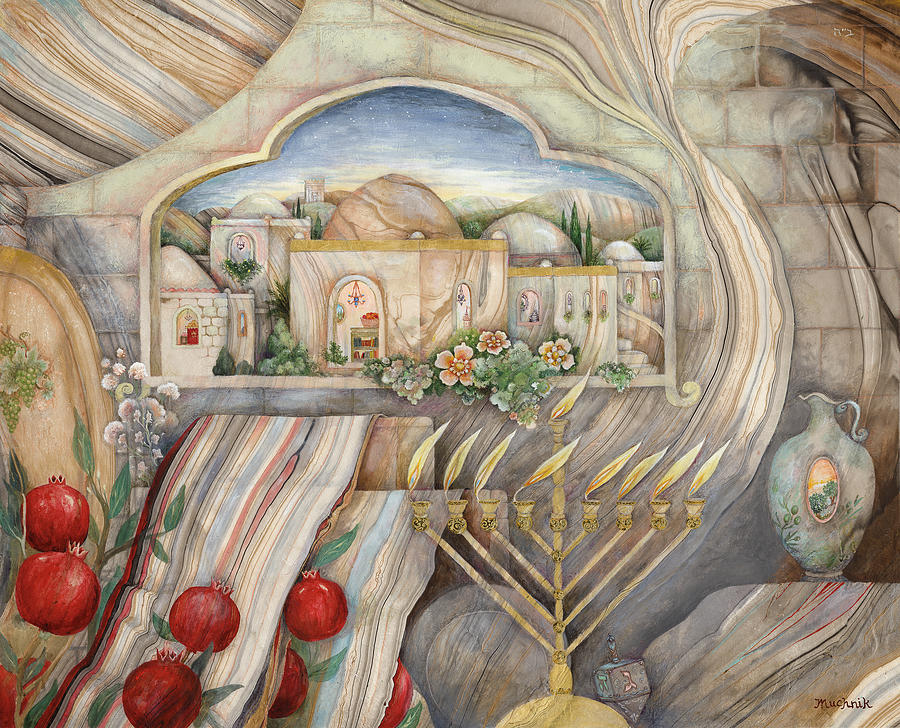 Chanukah Images For Facebook >> Chanukah Painting by Michoel Muchnik