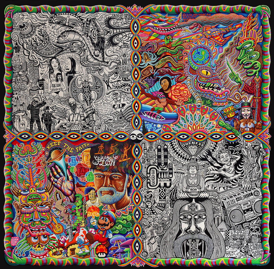 Trippy Painting - Chaos Culture Jam by Chris Dyer