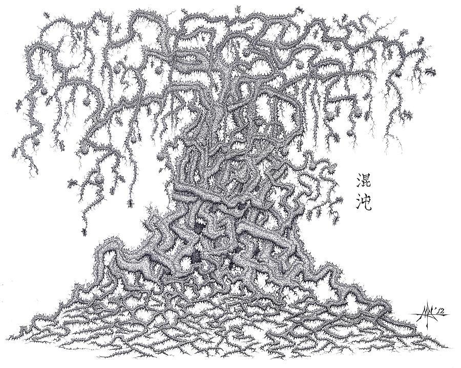 Chaos Drawing - Chaos by Robert Fenwick May Jr