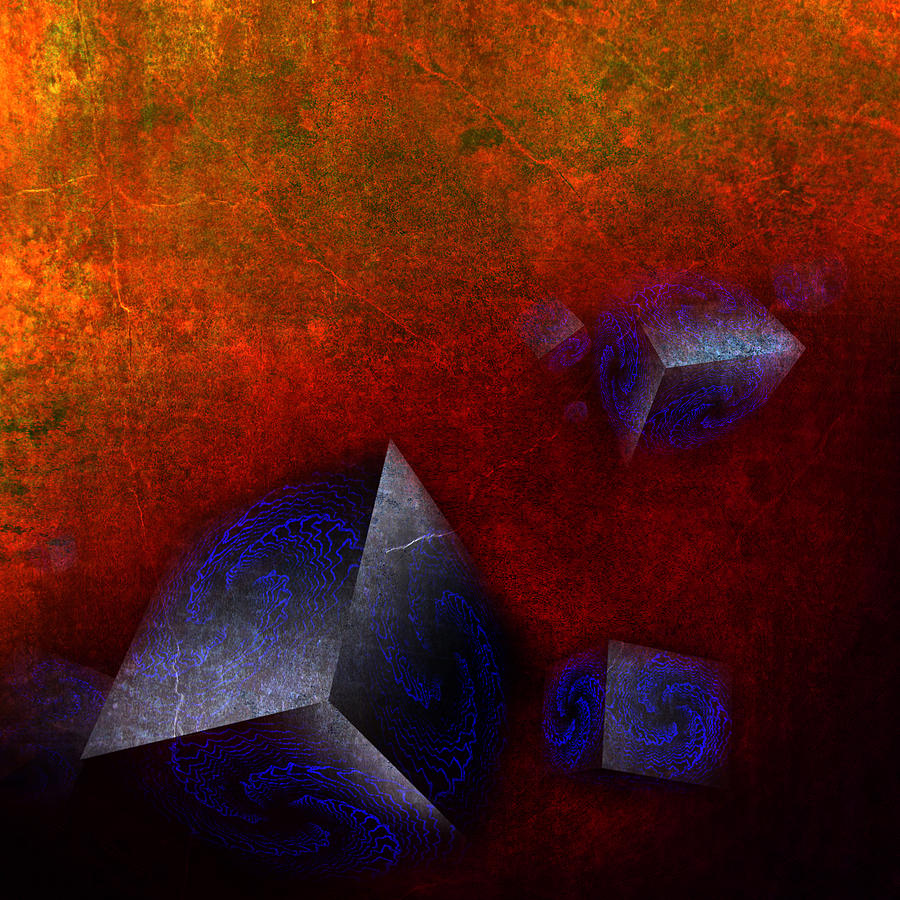 Abstract Digital Art - Chaotic Cubes by Florin Birjoveanu
