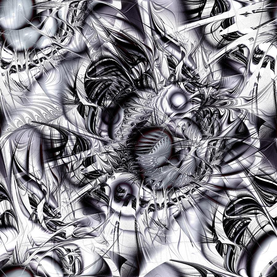 Malakhova Digital Art - Chaotic Space by Anastasiya Malakhova