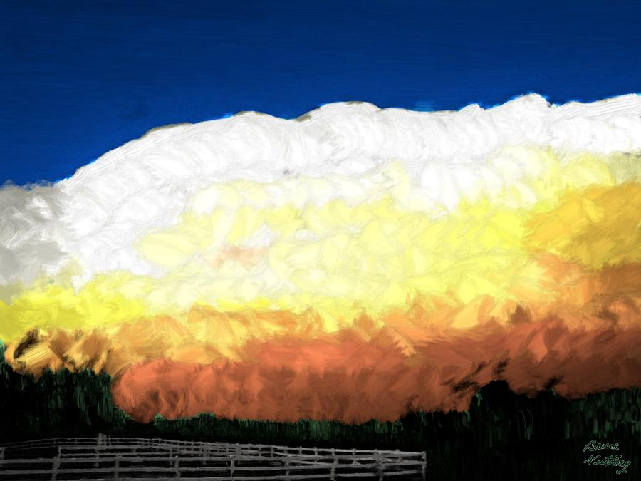 Clouds Painting - Chaparra Supercell at Sunset by Bruce Nutting