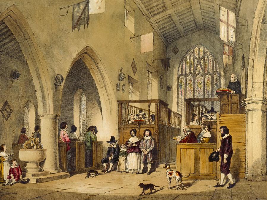 Chapel Drawing - Chapel At Haddon Hall, Derbyshire by Joseph Nash