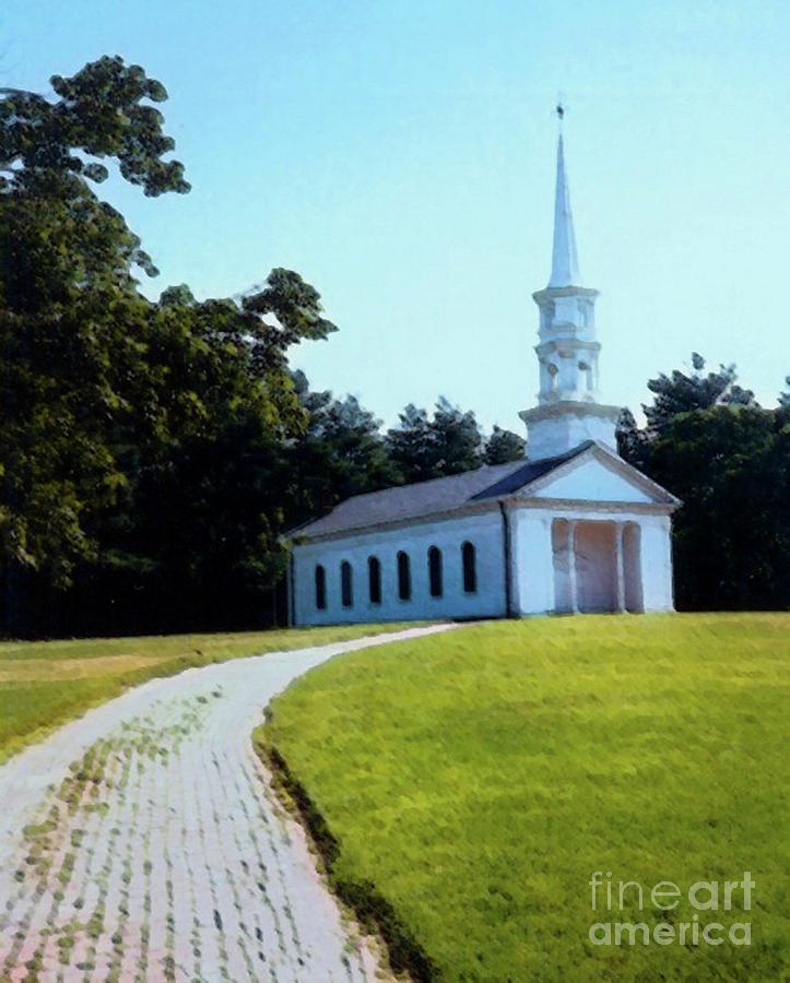 Church Photograph - Chapel At The Wayside Inn by Desiree Paquette