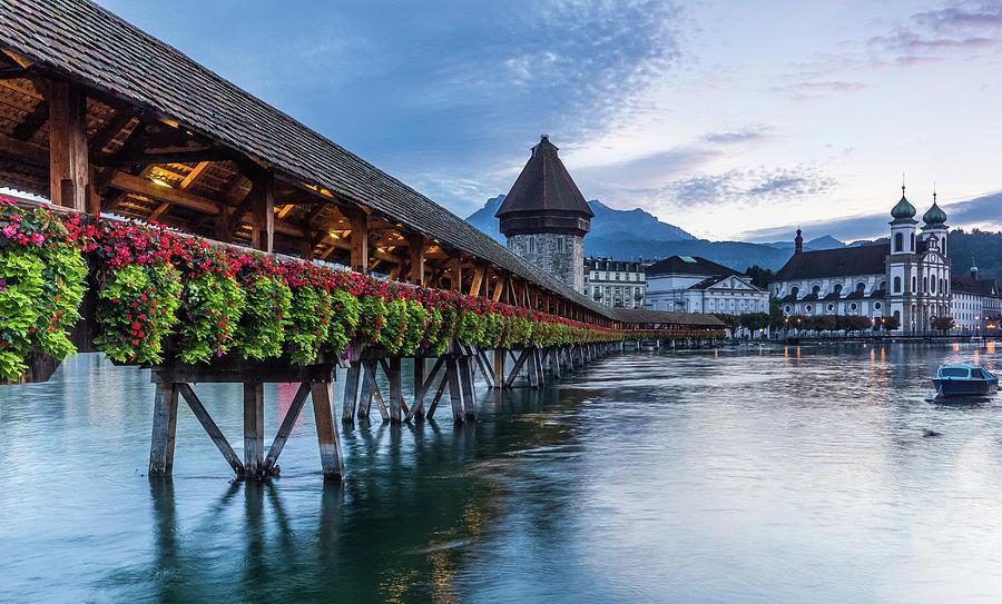 Chapel Bridge In Lucerne Photograph by Glenn Driver