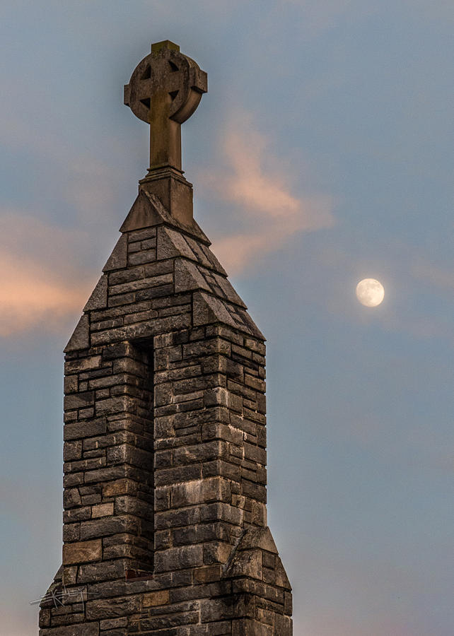 Chapel Cross and Moon by Ed Kelley