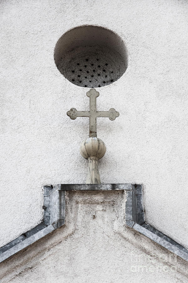 Church Photograph - Chapel Entrance Detail by Agnieszka Kubica