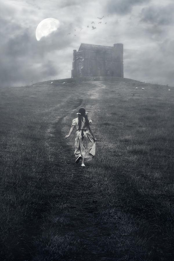 Girl Photograph - Chapel In Mist by Joana Kruse