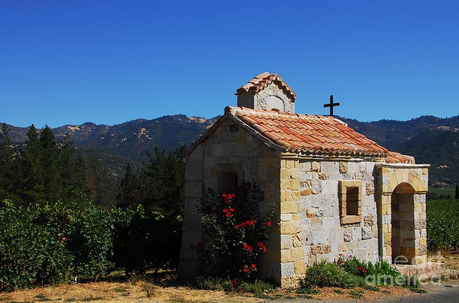 Vineyards Photograph - Chapel In The Vineyard by Mel Steinhauer