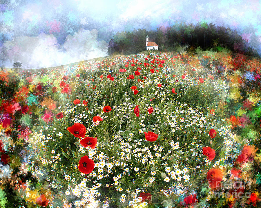 Digital Photograph - Chapel Of Colors by Edmund Nagele