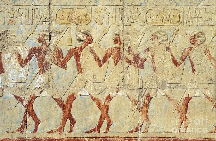 Chapel Hathor Hatshepsut Nubian Procession Soldiers
