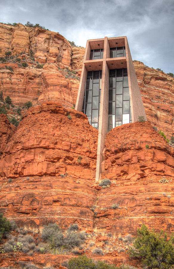 Hdr Photograph - Chapel Of The Holy Cross by Ross Henton
