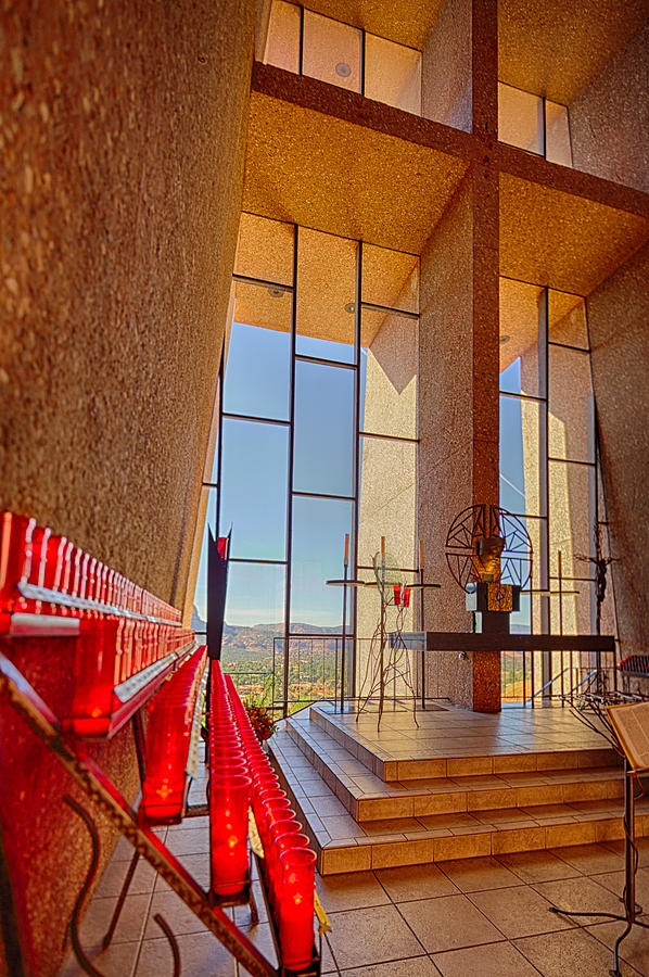 Candles Photograph - Chapel Of The Holy Cross Sedona Az Church by Scott Campbell