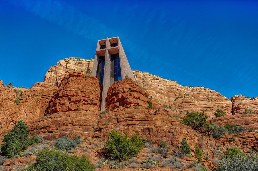 Cross Photograph - Chapel Of The Holy Cross Sedona Az Front by Scott Campbell