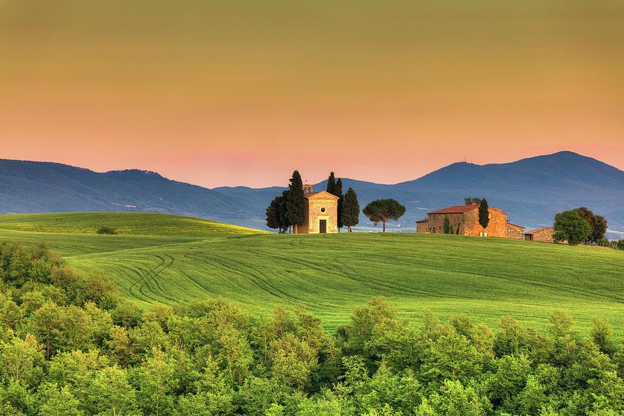 Chapel Of Vitaleta In Tuscany, Val Photograph by Zodebala