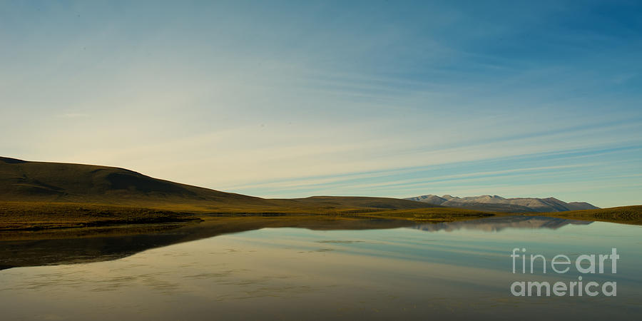 Chapman Lake Photograph - Chapman Lake Dempster Highway by Priska Wettstein