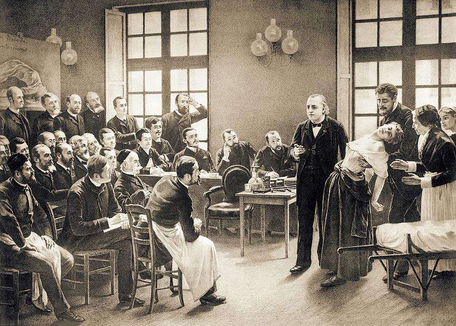 Jean-martin Charcot Photograph - Charcot Demonstrating Hysteria by Library Of Congress/science Photo Library