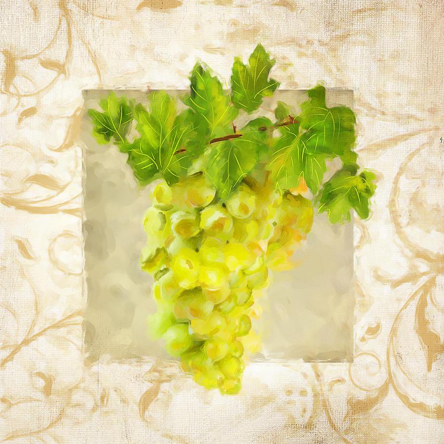 Wine Painting - Chardonnay II by Lourry Legarde