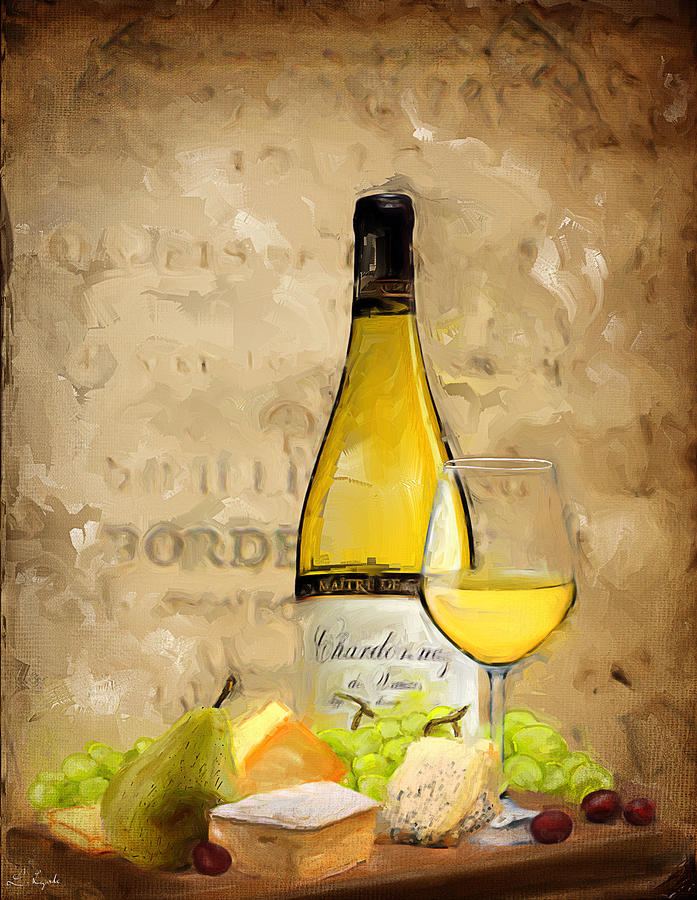 Wine Painting - Chardonnay Iv by Lourry Legarde