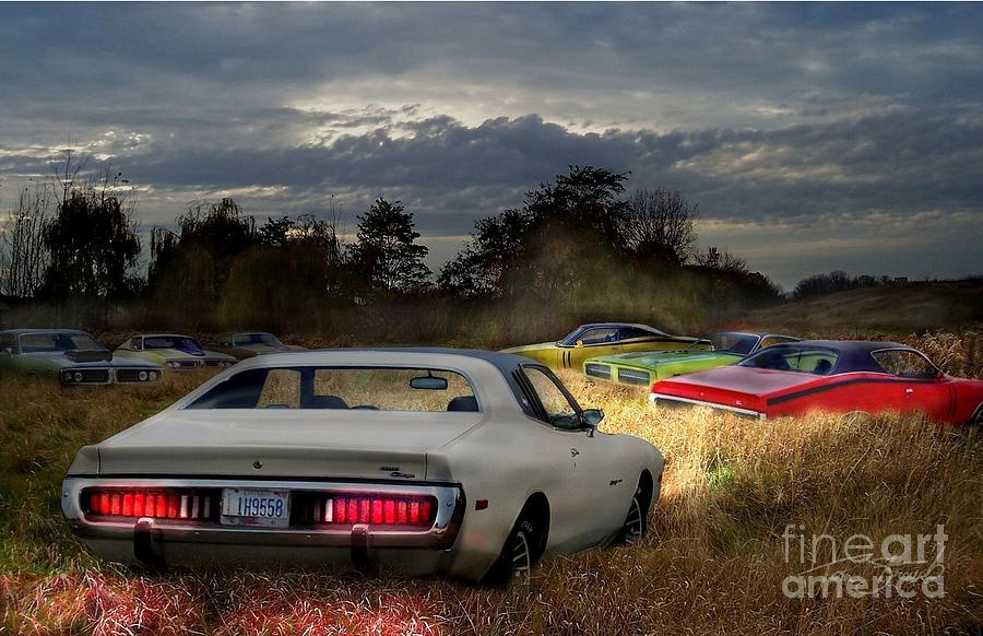 Classic Photograph - Charger Field by Tom Straub