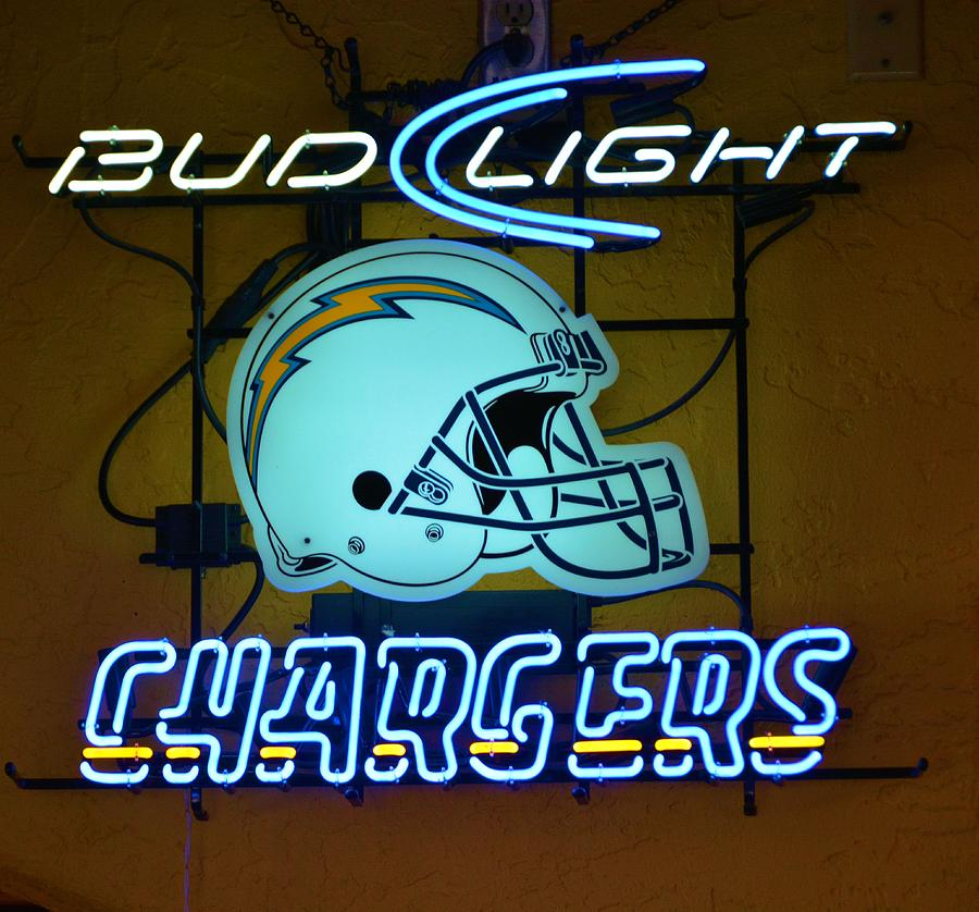 Chargers Sign And Bud Light Photograph By Richard Jenkins