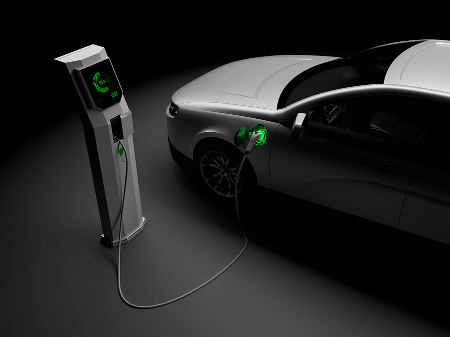 Charging Electric Cars Photograph by 3alexd