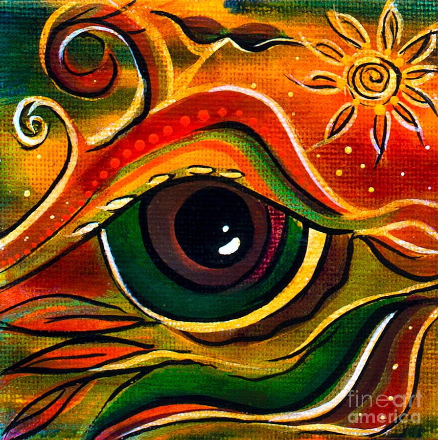 Deborha Kerr Painting - Charismatic Spirit Eye by Deborha Kerr