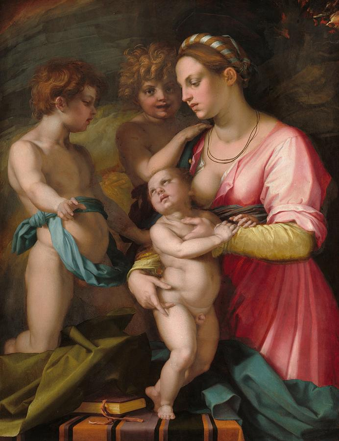 1530 Painting - Charity by Andrea del Sarto