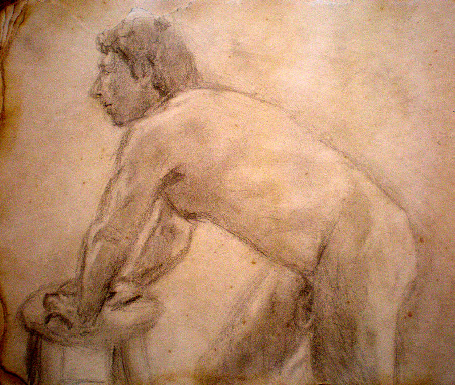 Nude Drawing - Charity Figure Drawing 2 by Steve Spagnola