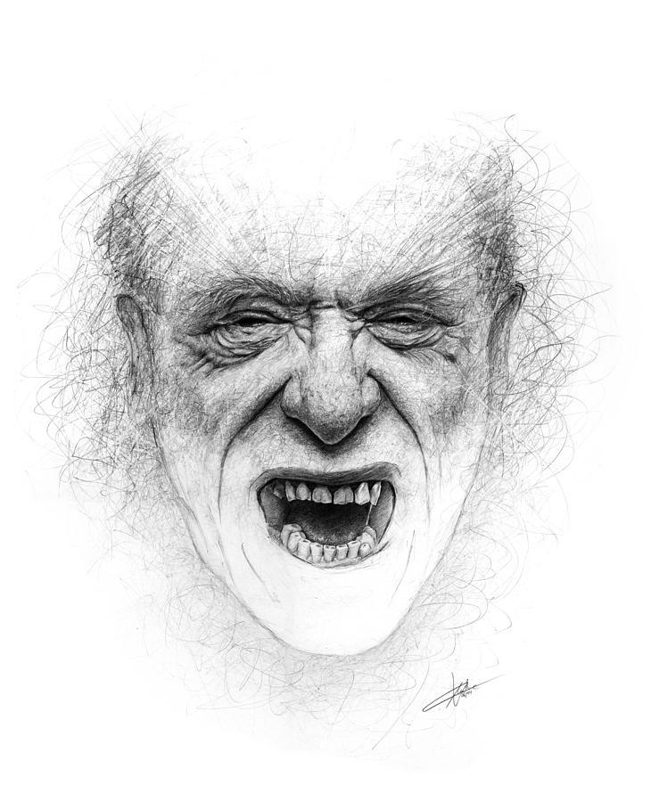 Bukowski Drawing - Charles Bukowski by Christian Klute