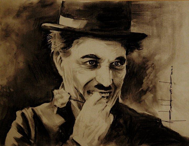 Charles Chaplin Painting By Ashok Karnik