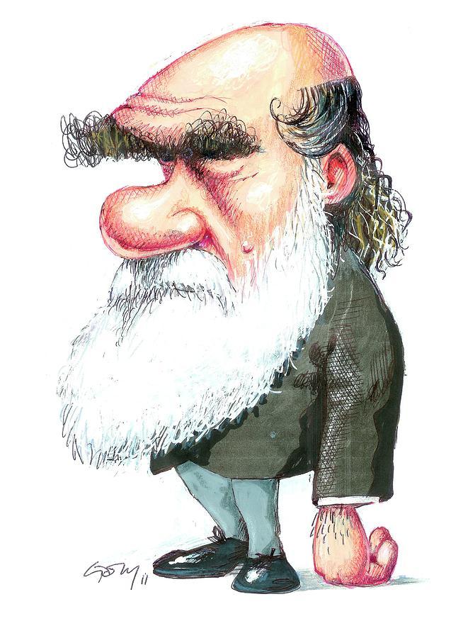 1800s Photograph - Charles Darwin by Gary Brown
