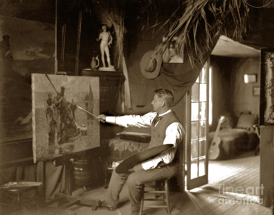 Charles Photograph - Charles Dickman Artist Monterey California Circa 1907 by California Views Mr Pat Hathaway Archives