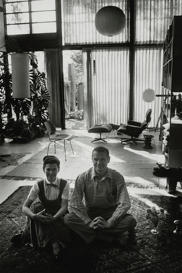 Charles Eames And Ray Eames Photograph by John Bryson