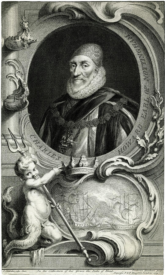 Chas Drawing - Charles Howard, Second Baron  Howard by Mary Evans Picture Library