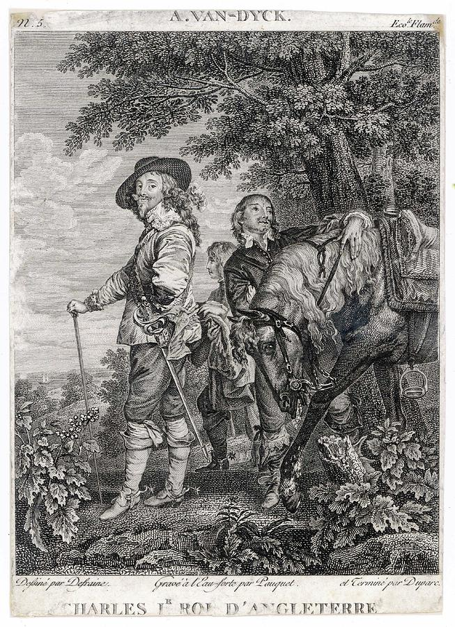 Charles Drawing - Charles I Of England          Date 1600 by Mary Evans Picture Library