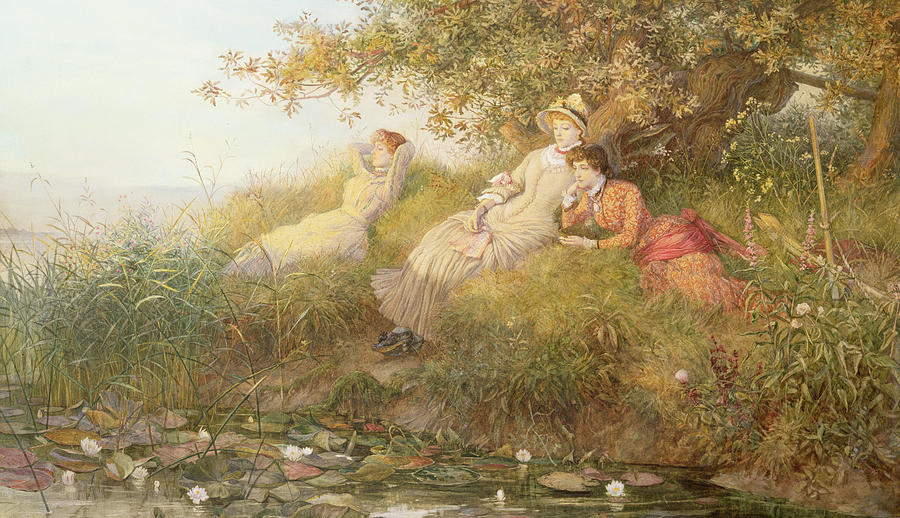 charles j staniland painting by the lotus eaters