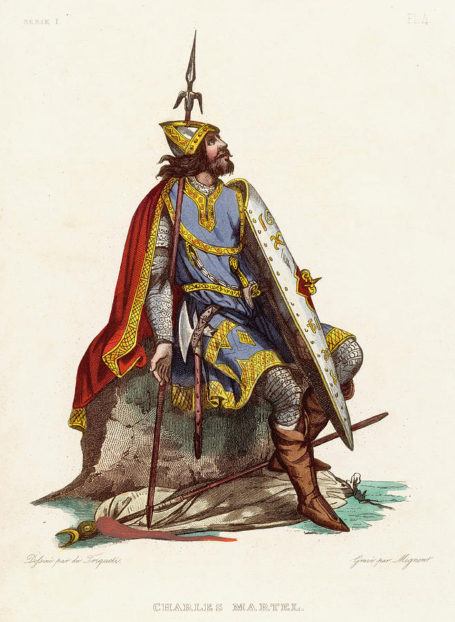 Charles Drawing - Charles Martel Duc Daustrasie, Mayor by Mary Evans Picture Library