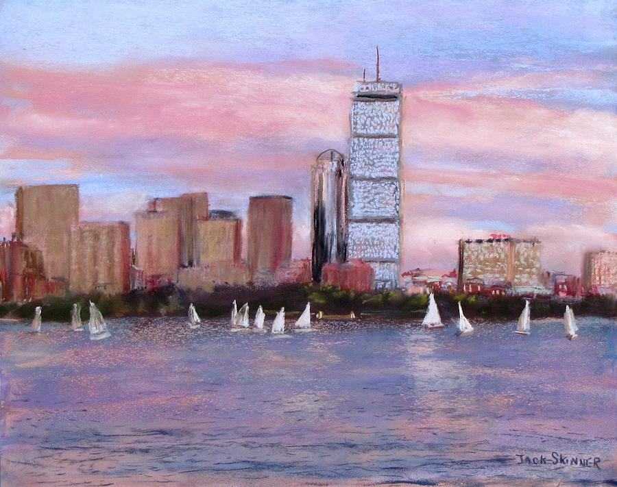 Boston Painting - Charles River Boston by Jack Skinner