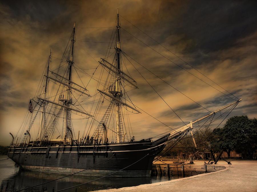 Ship Photograph - Charles W. Morgan by Robin-Lee Vieira