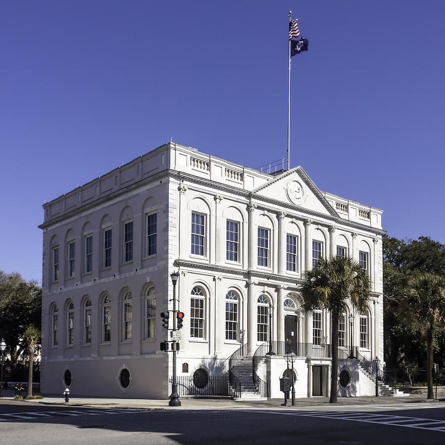 City Hall Photograph - Charleston City Hall by Lynn Palmer
