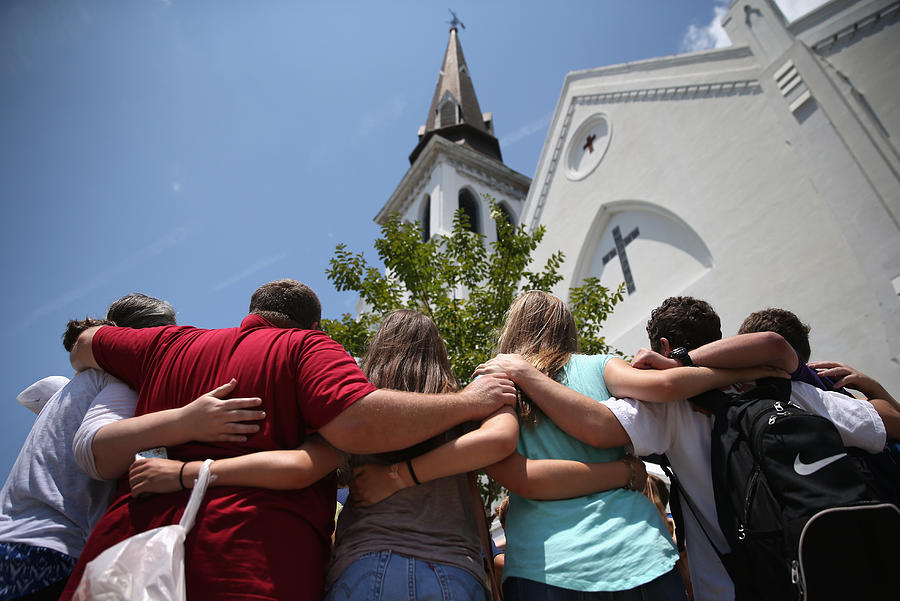 Charleston Marks One Month Anniversary Of Church Shootings Photograph by John Moore