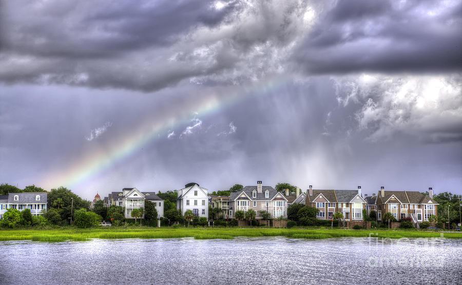 Rainbow Photograph - Charleston Rainbow Homes by Dustin K Ryan
