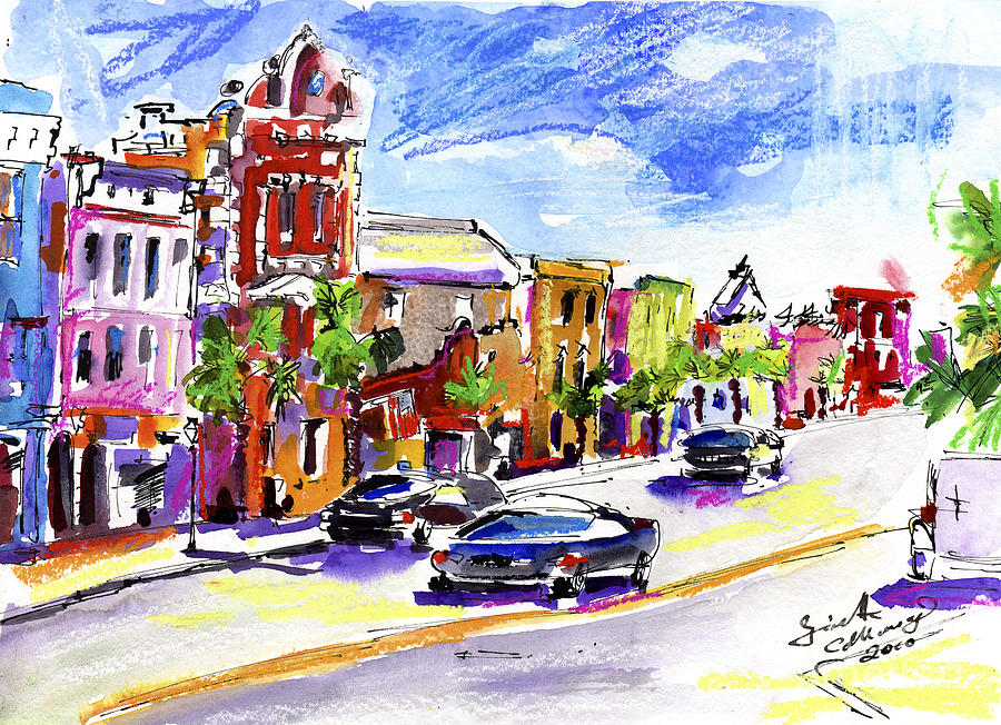 Charleston South Carolina Kind Street Painting by Ginette Callaway