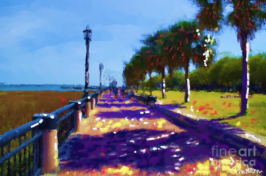 Waterfront Park Painting - Charleston Walkway by Preston Sandlin