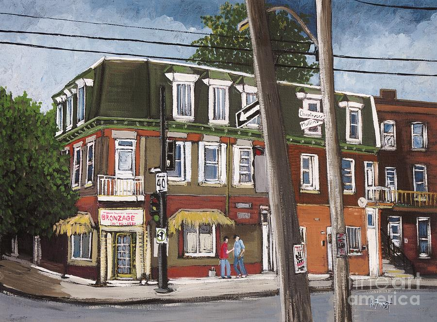 Pointe St Charles Painting - Charlevoix And Mullins Pointe St. Charles by Reb Frost